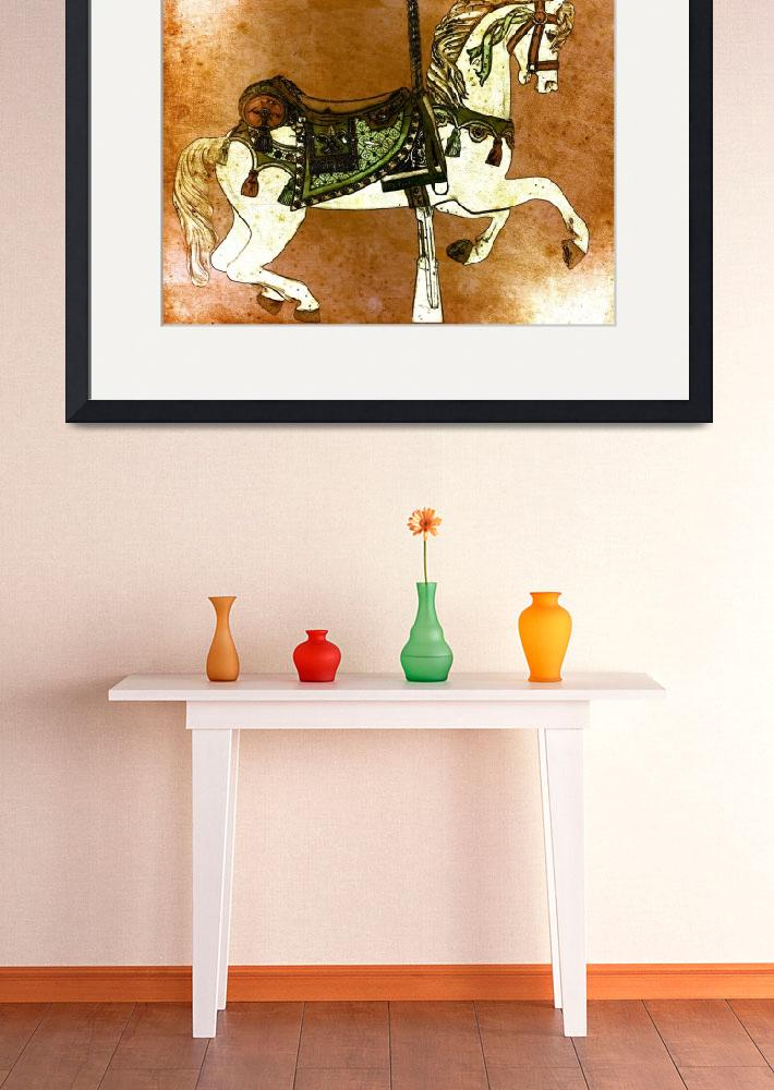 """Carousel Horse in Browns&quot  (2012) by psovart"