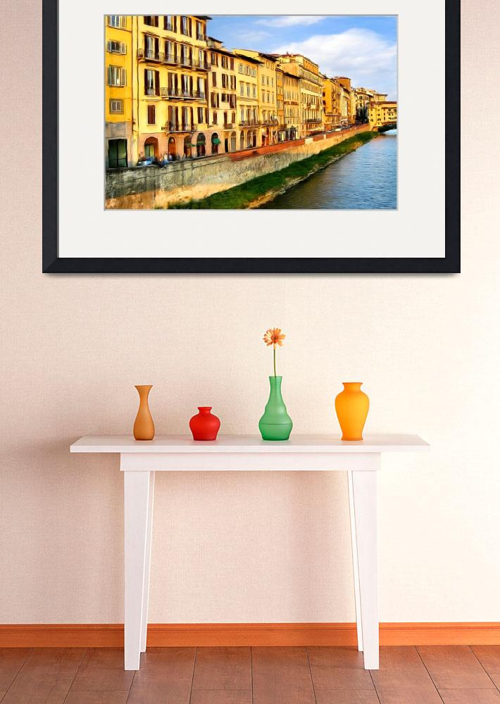 """Florence on the Arno I&quot  (2009) by knightvision"