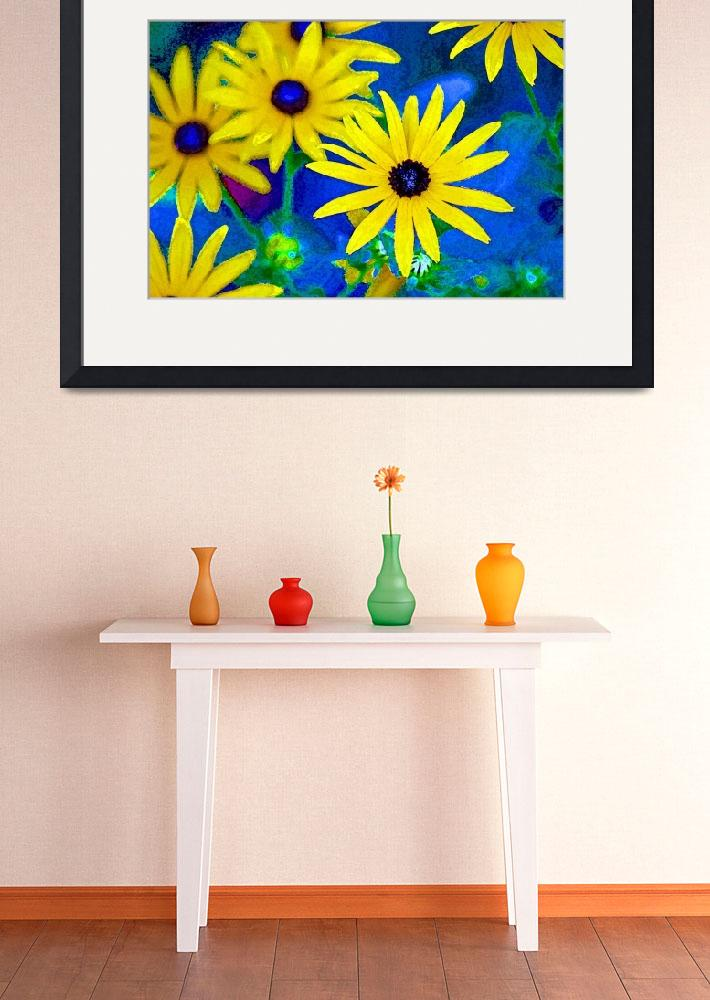 """Black-Eyed Susan Flowers Bright&quot  (2012) by KsWorldArt"