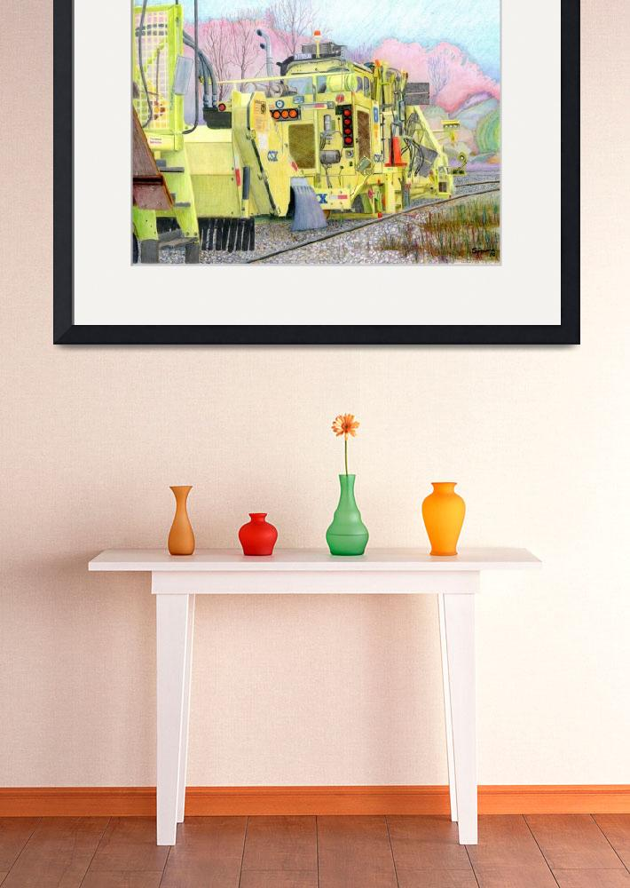 """CSX track repair vehicle colored pencil&quot  (2010) by Pauljs"