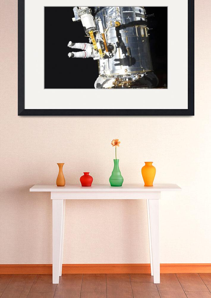 """Astronaut working on the Hubble Space Telescope du&quot  by stocktrekimages"