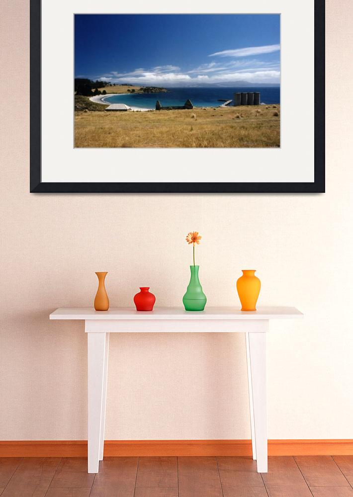 """Maria Island Ruins Looking Out to Sea, Tasmania&quot  (2000) by janemcdougall"