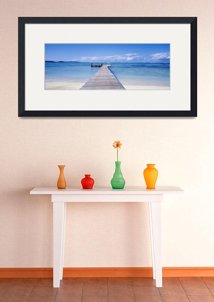 """Jetty on the beach Mauritius&quot  by Panoramic_Images"