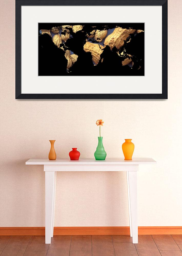 """World Map Silhouette - Peanuts&quot  by Alleycatshirts"