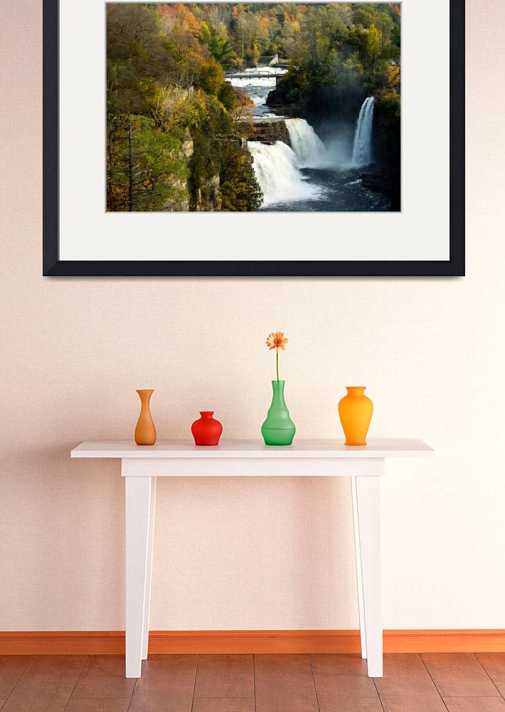 """Three Watefalls at Ausable Chasm Autumn&quot  (2011) by ValeriesGallery"