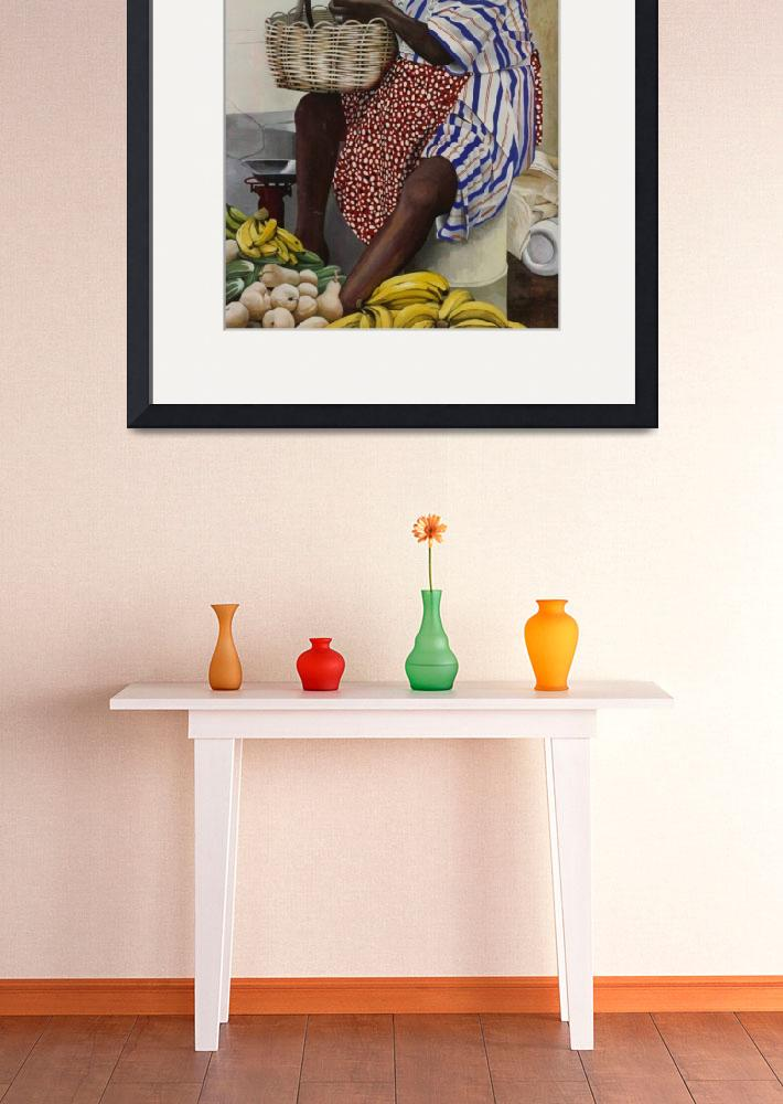 """Caribbean Fruit Seller&quot  (2004) by brianflemingsgallery"