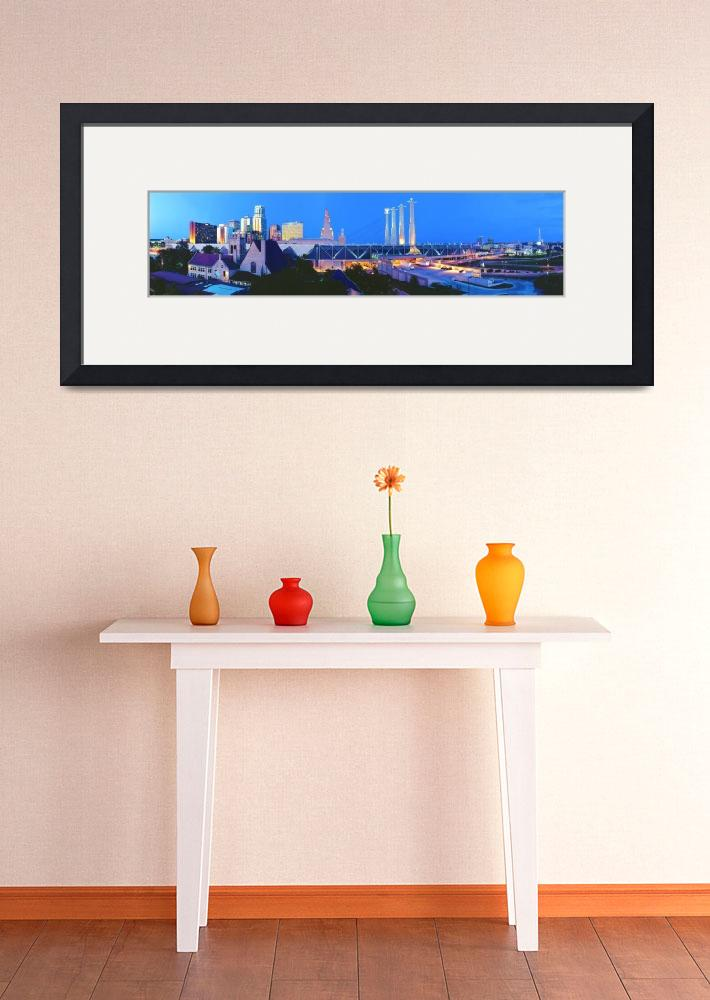"""Kansas City Downtown Skyline Panoramic&quot  (2002) by atlasphotographic"
