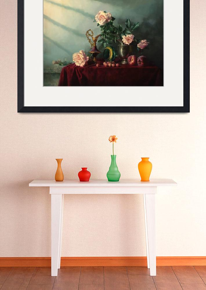 """Still life with the cherry and the peaches&quot  (1998) by Antonov"
