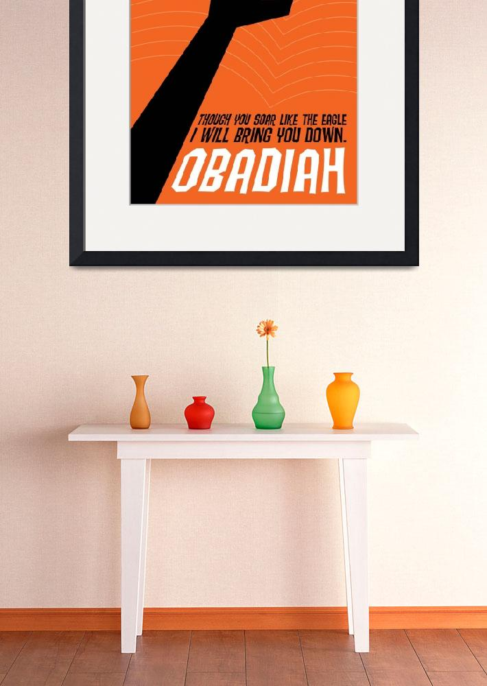 """Word: Obadiah&quot  by jimlepage"