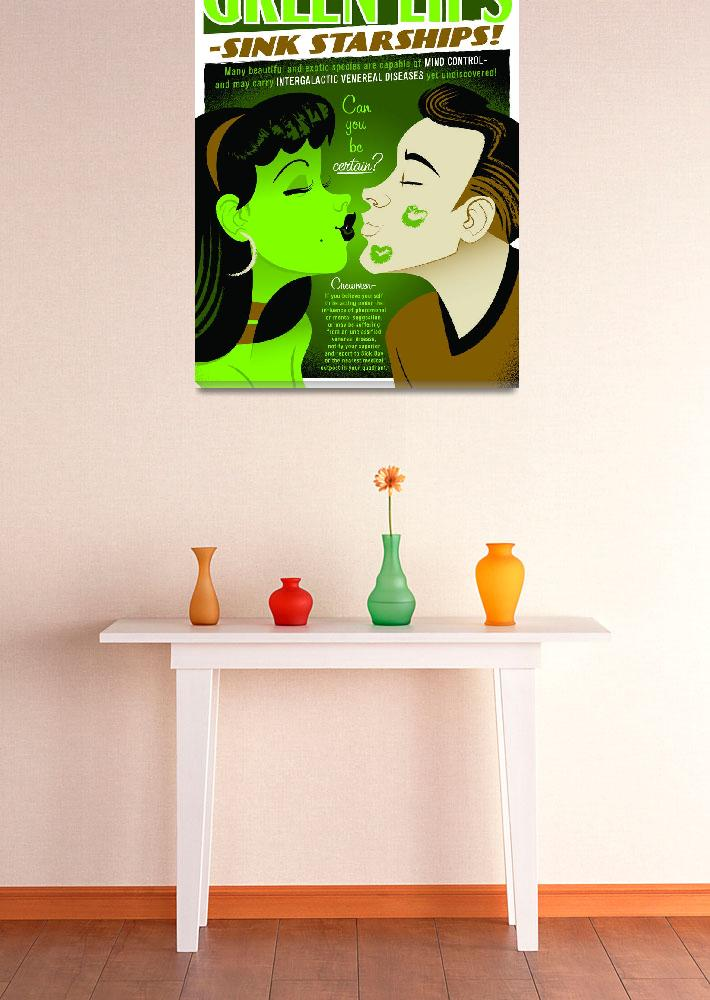 """GREEN LIPS&quot  (2011) by TravisPitts"