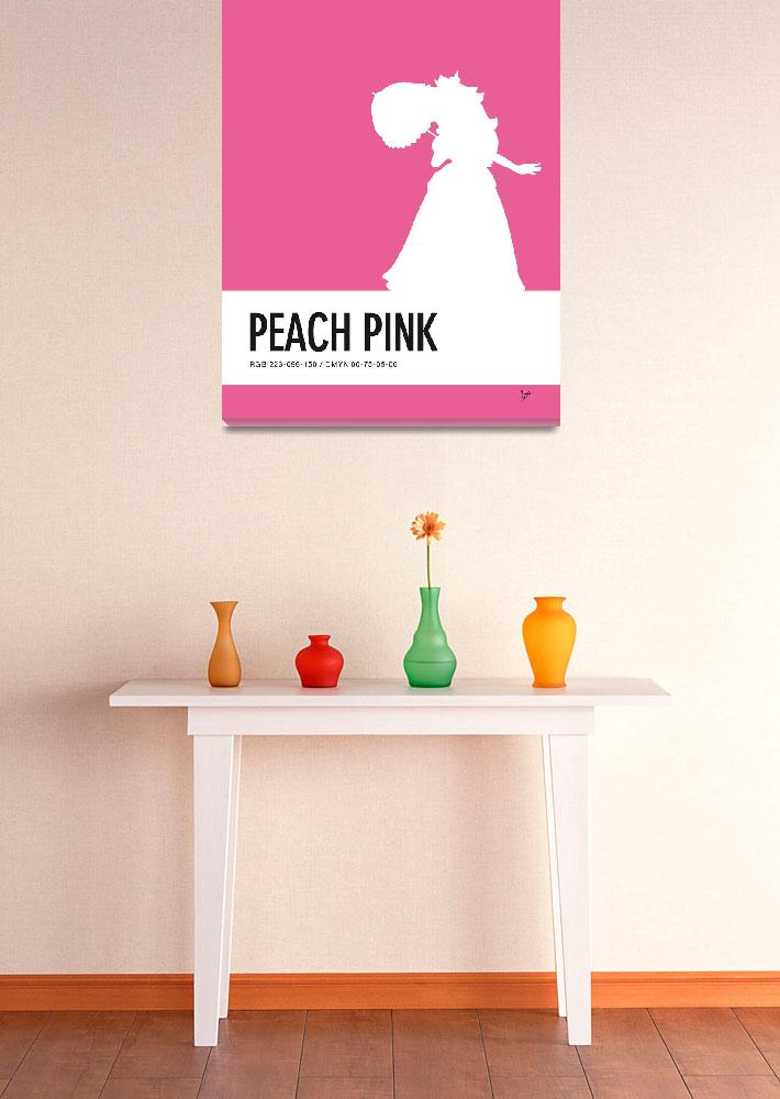"""No44 My Minimal Color Code poster Peach&quot  by Chungkong"