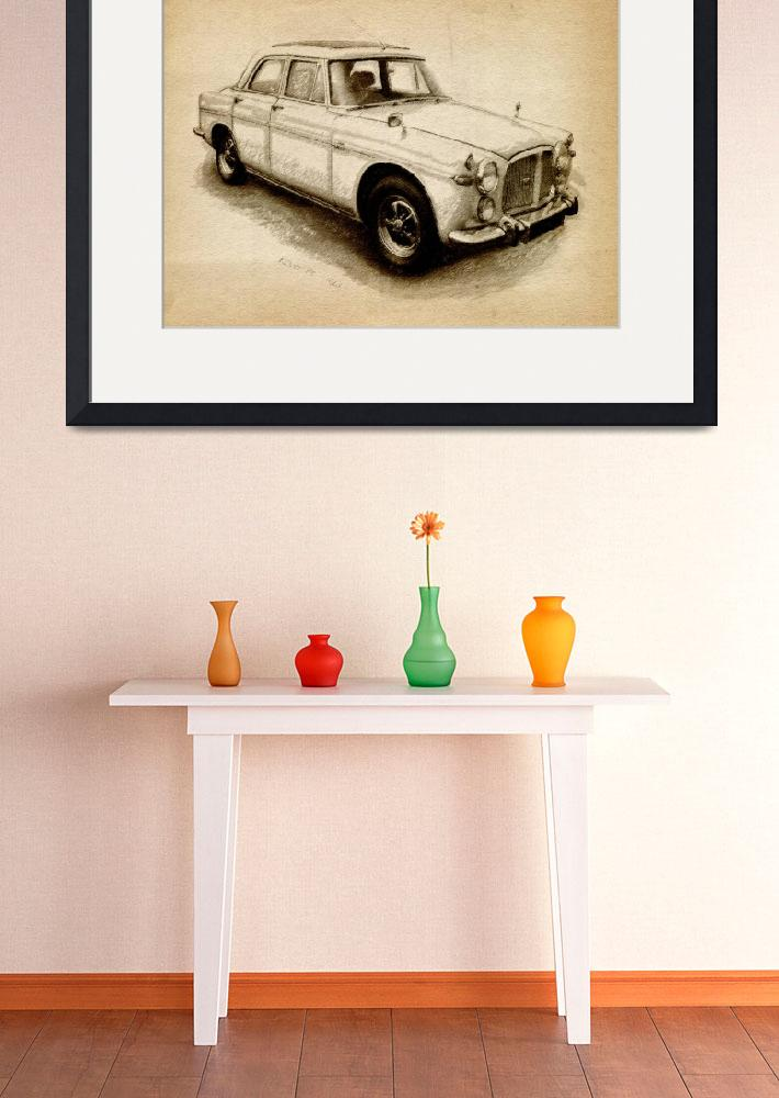 """Rover P5 1968&quot  (2010) by ModernArtPrints"