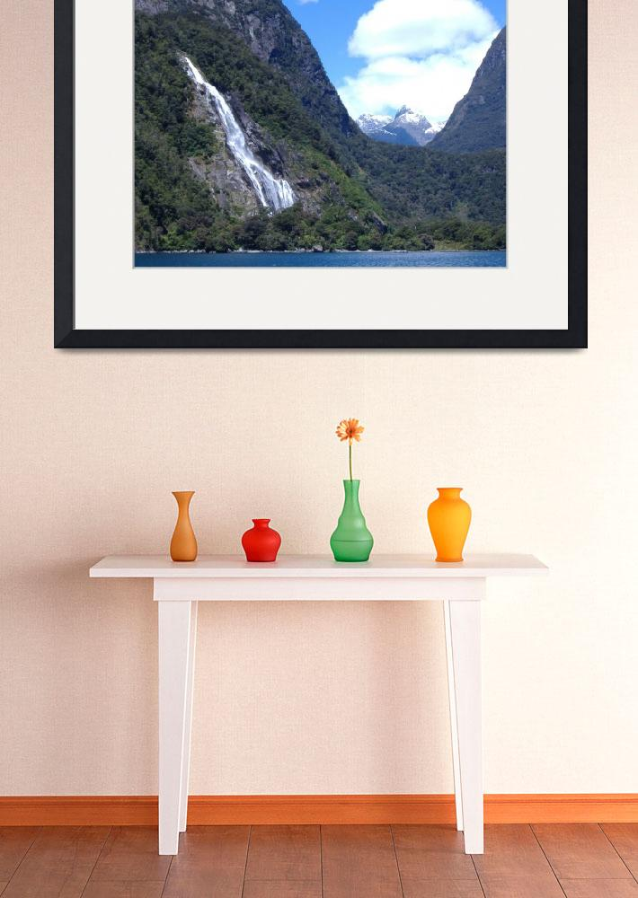 """Bowenvale Falls Milford Fiordland&quot  (2007) by campbellpotter"