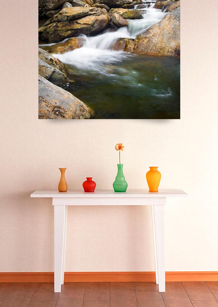 """Backwoods Ballet - WNC Waterfalls Print&quot  (2009) by DAPhoto"