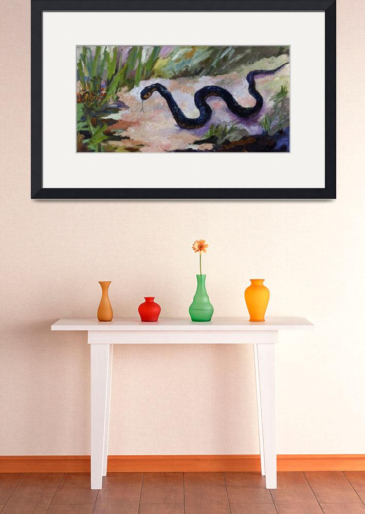 """Black Indigo Snake Oil Painting by Ginette&quot  (2011) by GinetteCallaway"