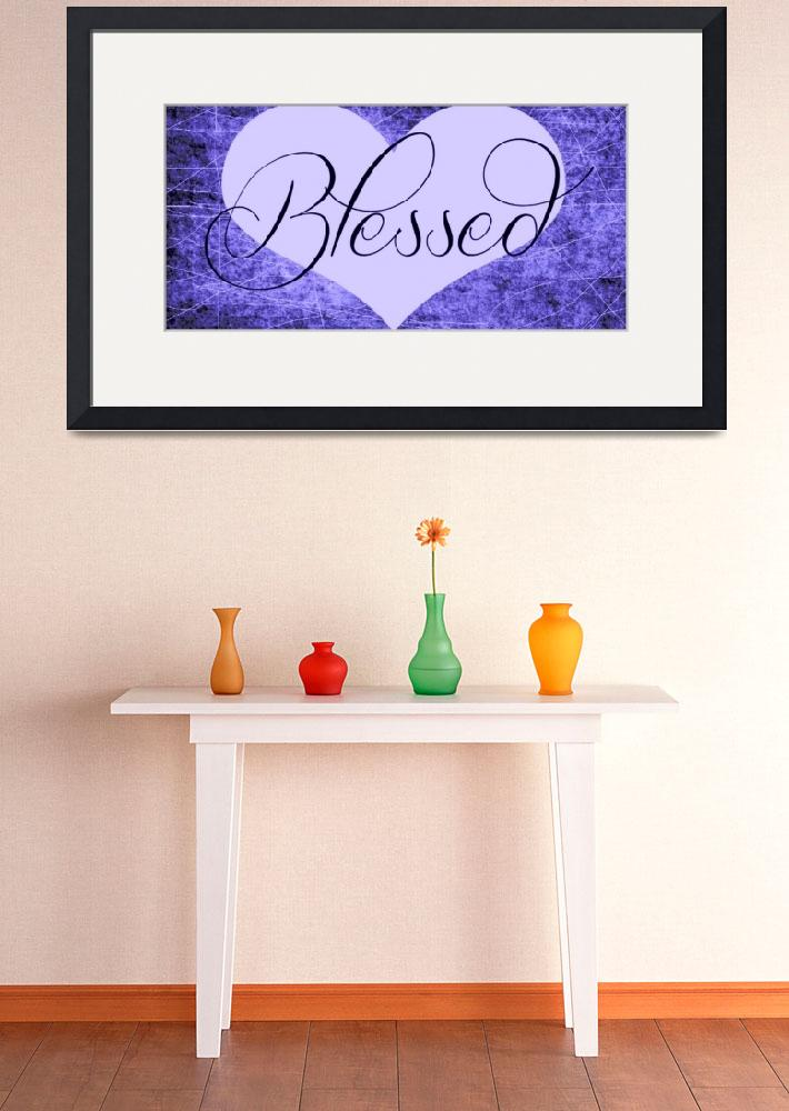 """blessed heart purples&quot  by lizmix"