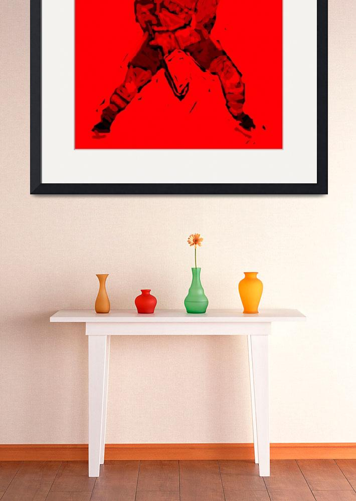 """Hockey Defenseman red (c)&quot  (2014) by edmarion"