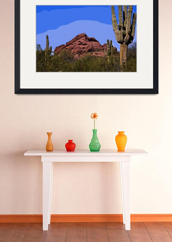 """Red Rock Cactus&quot  (2014) by Kirtdtisdale"