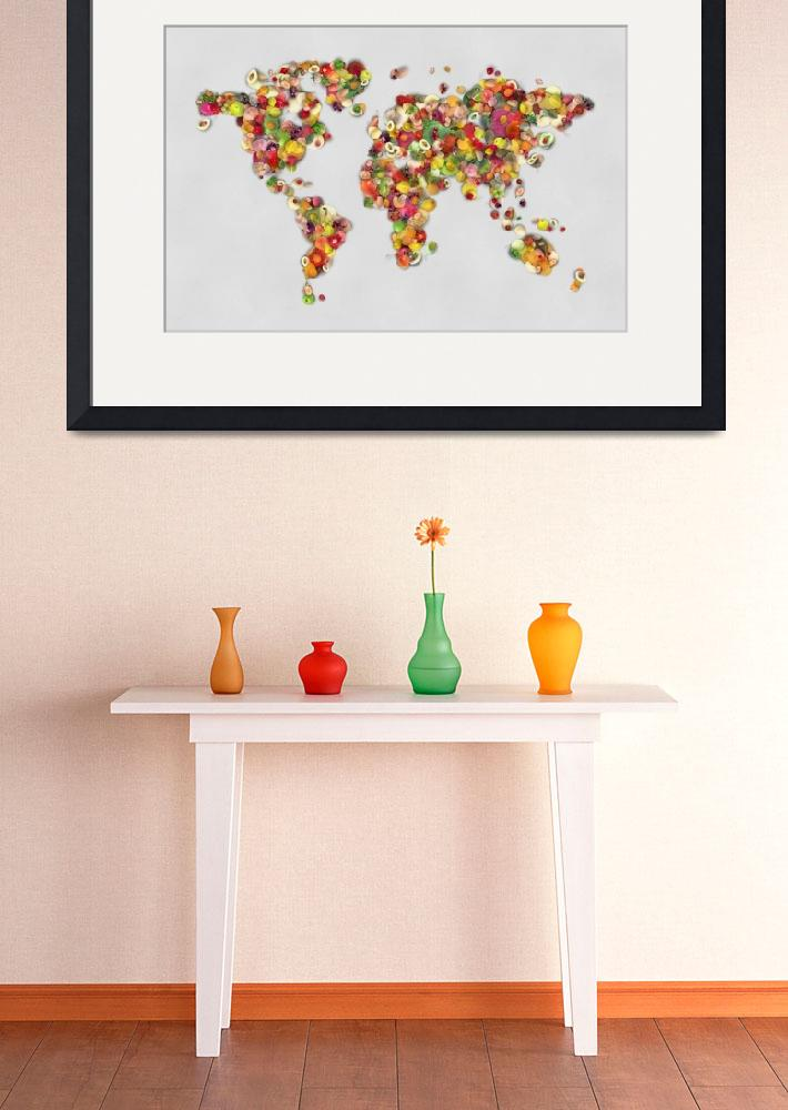 """Feed the world - World map&quot  (2013) by Art_by_Lilia"