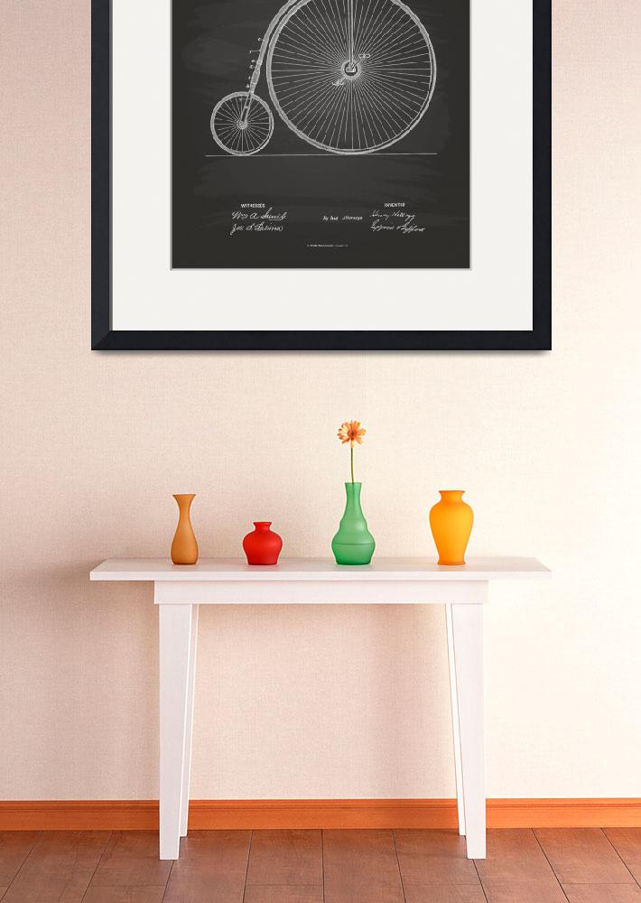 """Vintage Bicycle 1883 Patent Art - Chalkboard Print&quot  (2014) by TawerArt"
