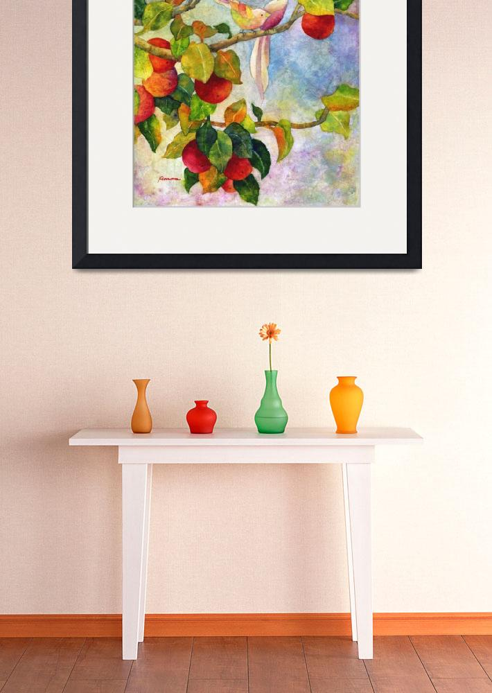 """Birds on Apple Tree&quot  (2015) by HaileyWatermedia"