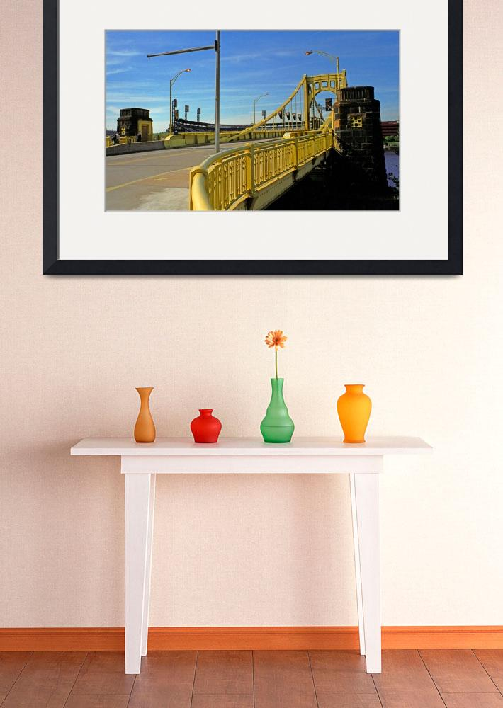 """Pittsburgh - Roberto Clemente Bridge&quot  (2001) by Ffooter"