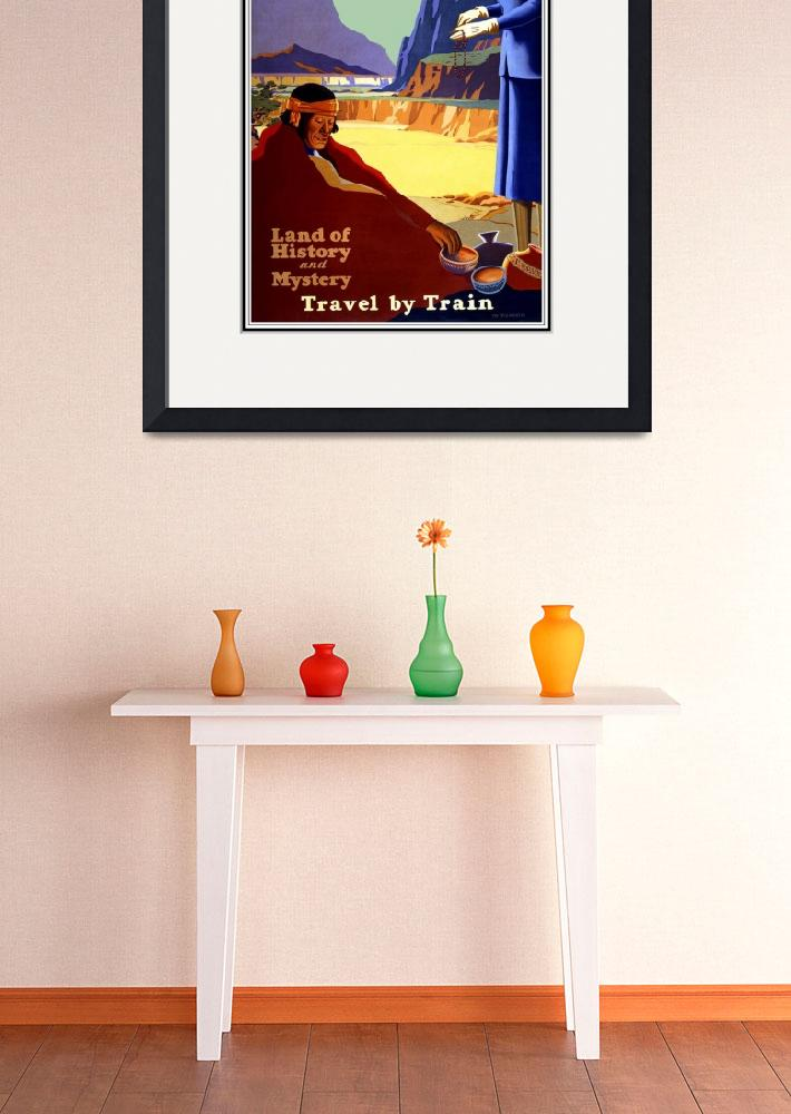 """Vintage Travel Poster New Mexico Arizona Rockies&quot  by shanmaree"