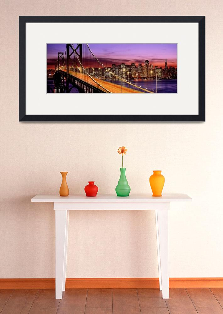 """San Francisco, Bay Bridge&quot  by IK_Stores"