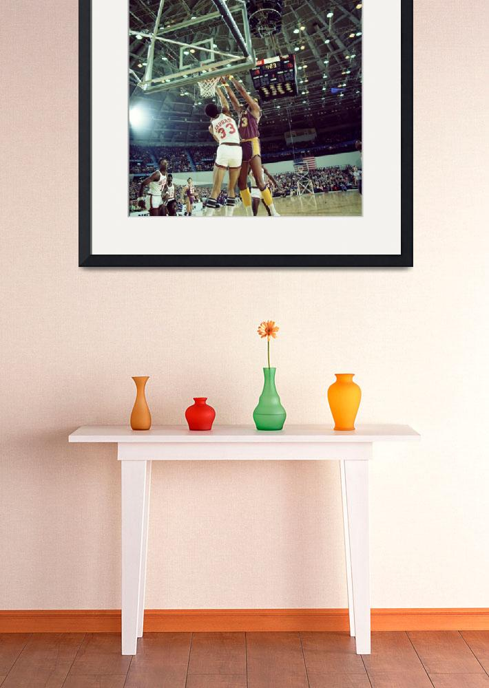 """Kareem Abdul Jabbar blocking shot&quot  by RetroImagesArchive"