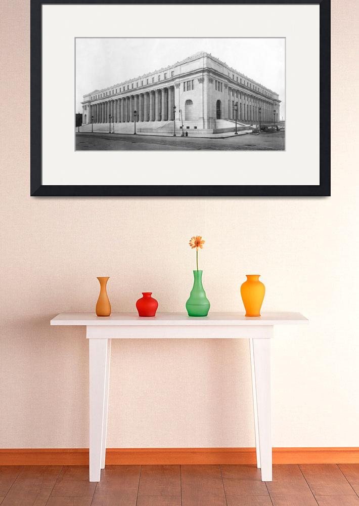 """Vintage James Farley NYC Post Office Photograph&quot  by Alleycatshirts"