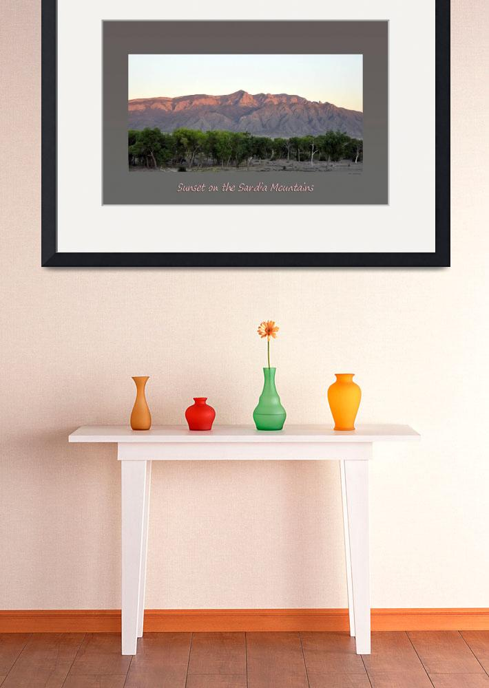 """Sunset On The Sandia Mountains Poster&quot  (2012) by Wilford"