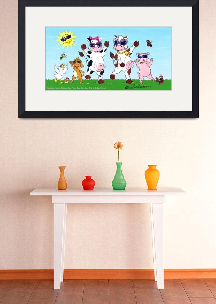 """Happy Cows Party&quot  (2012) by BarbaraPelizzoli"