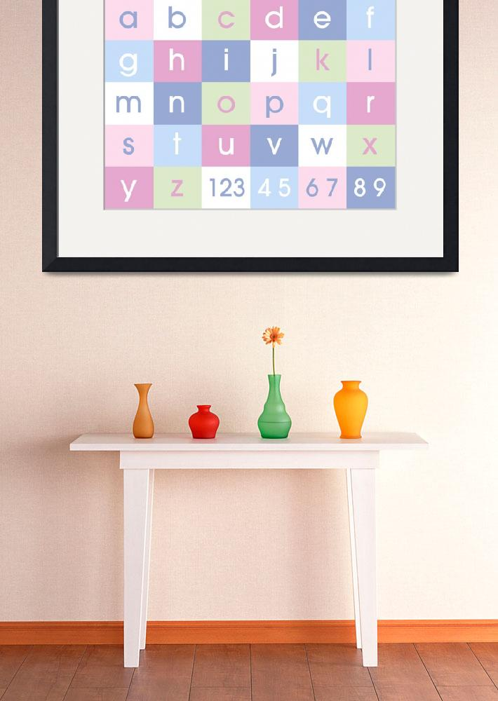 """Alphabet Pastel&quot  (2011) by ModernArtPrints"