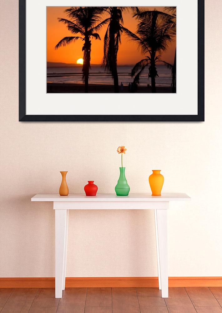 """Silhouetted Palm Trees at Sunset&quot  (2007) by dennisflood"