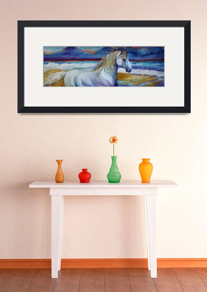 """STORMY SURF EQUINE&quot  (2011) by MBaldwinFineArt2006"