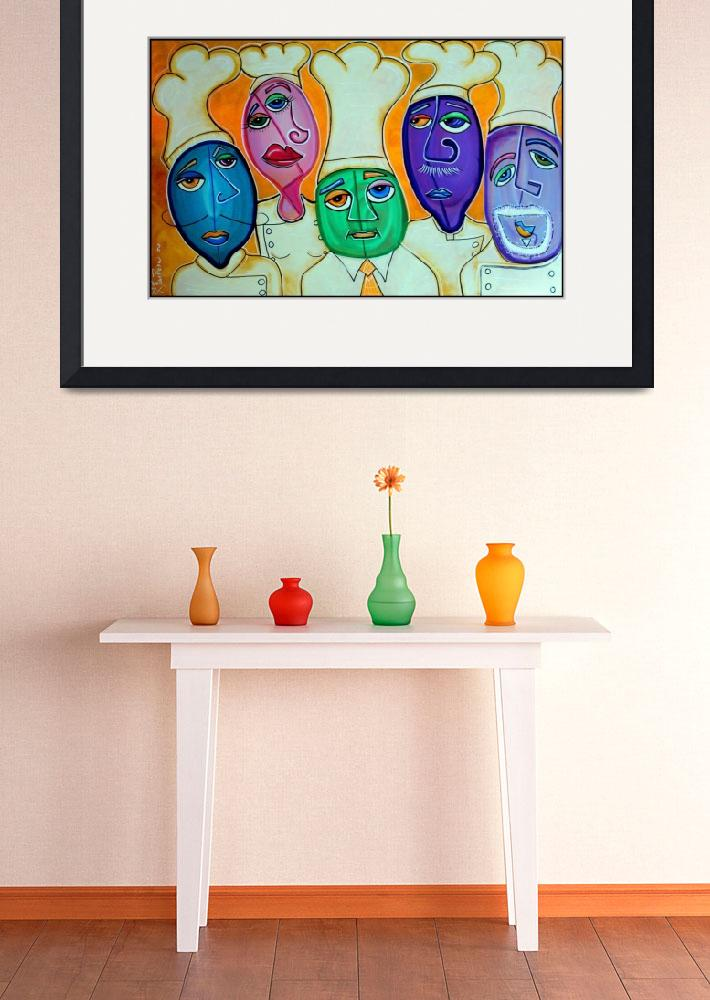 """4 Chefs&quot  (2008) by ArtPrints"