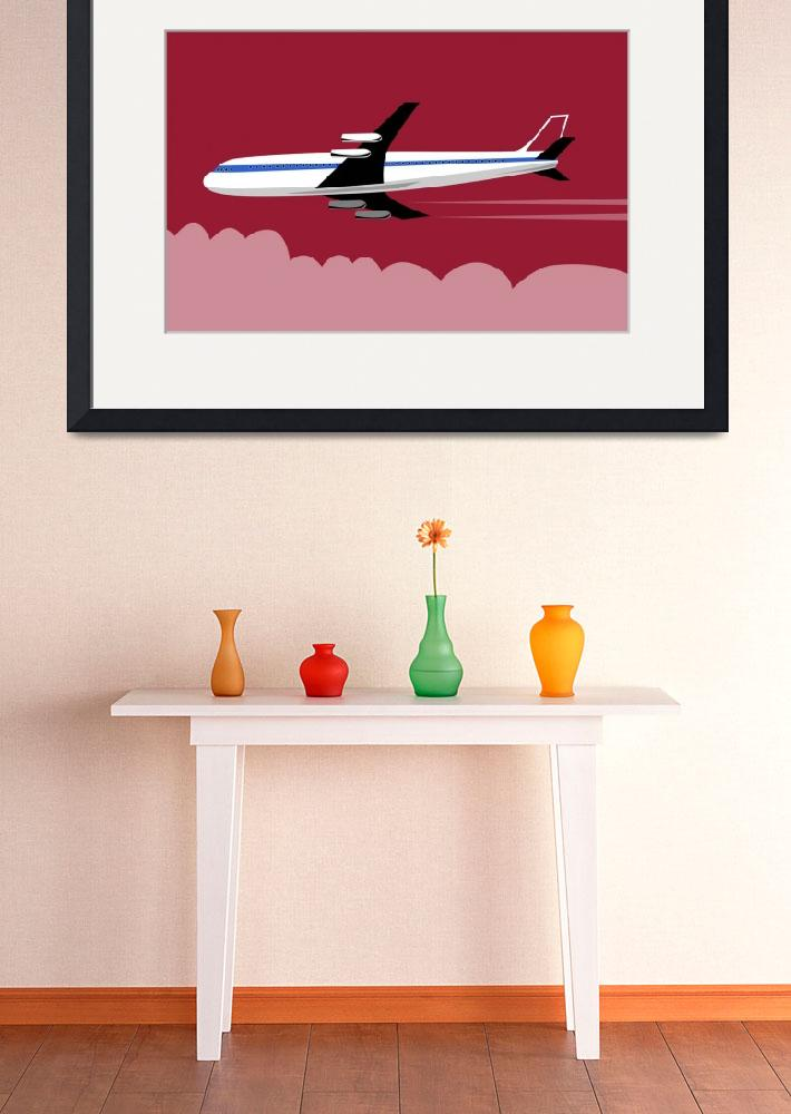 """Commercial Jet Plane Airline Retro&quot  (2013) by patrimonio"