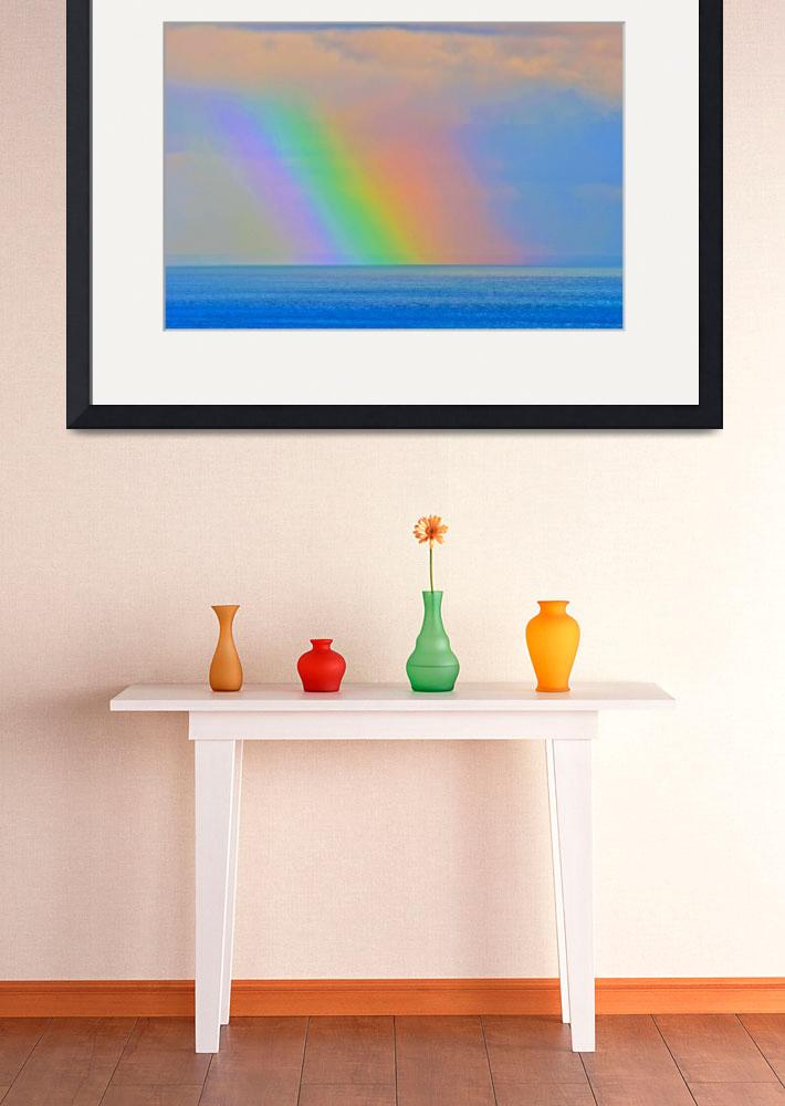 """DSC_7434 - Rainbow at Sea&quot  by Simon_Rutherford"