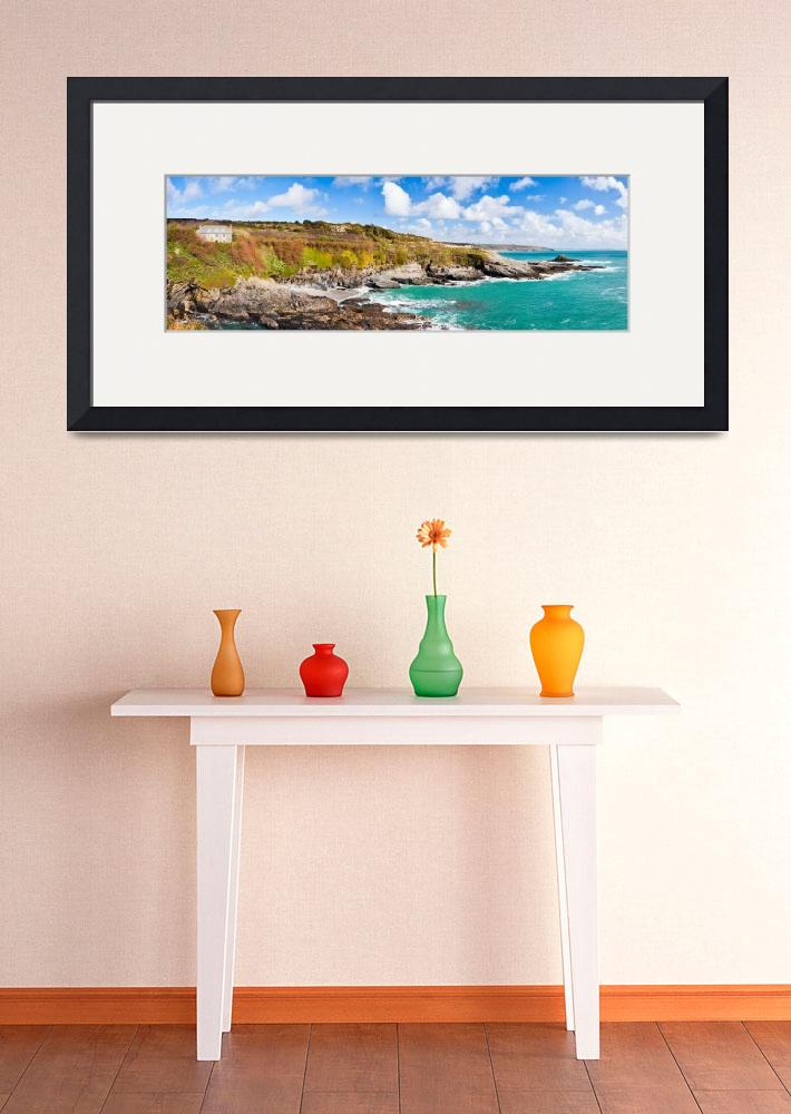 """Prussia Cove Panoramic&quot  (2011) by ianwoolcock"