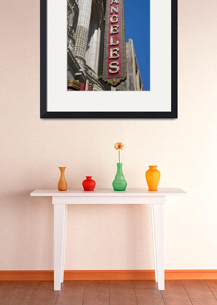 """Los Angeles Theater Sign&quot  (2003) by midcenturymodern"