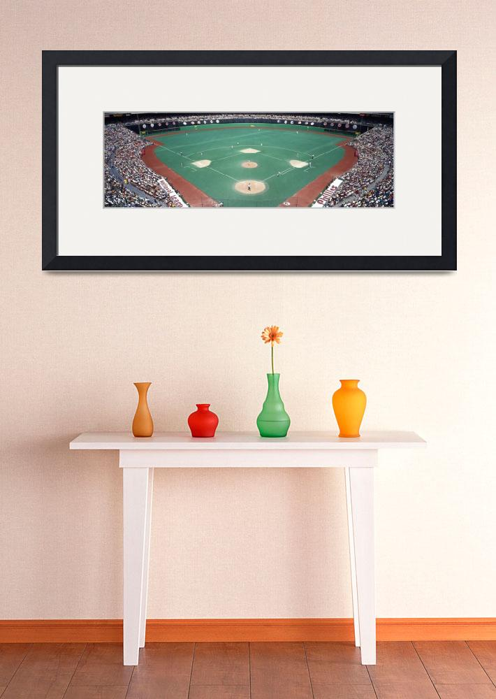 """Phillies vs Mets baseball game Veterans Stadium P&quot  by Panoramic_Images"