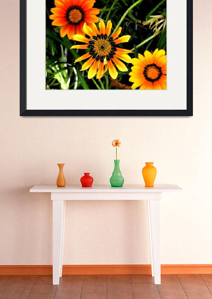 """Three Orange Flowers&quot  (2010) by Ninasart"
