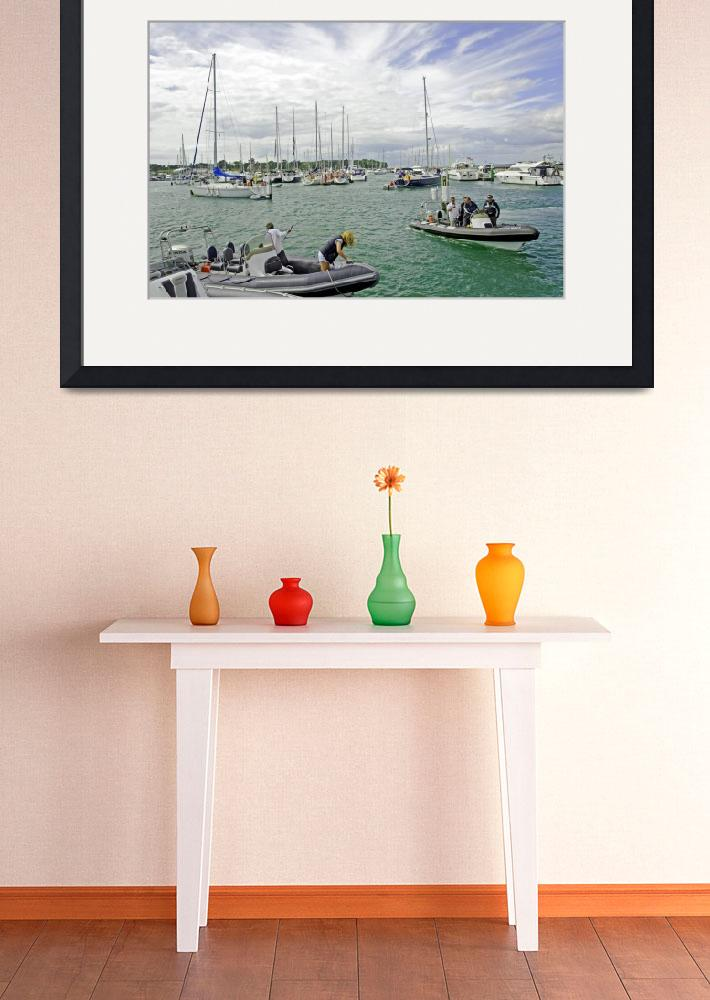 """Yarmouth IOW, Harbour Scene – 01 (25683-RDA)&quot  (2010) by rodjohnson"