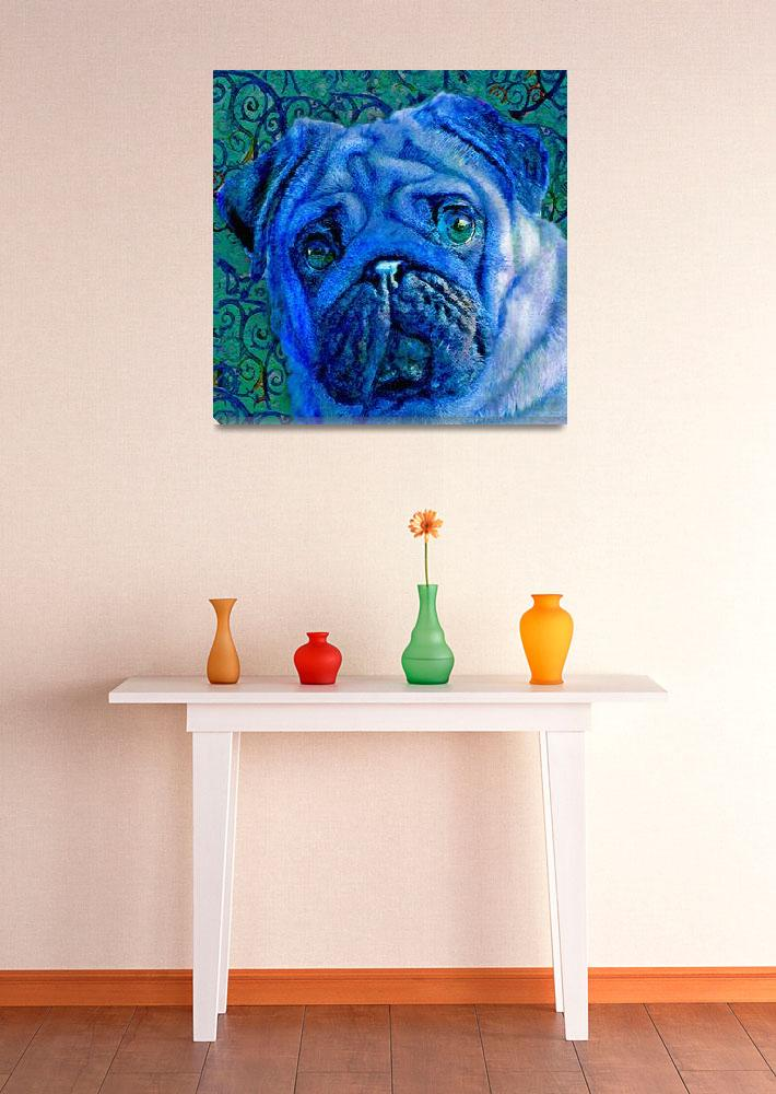 """blue pug&quot  (2011) by pietrastone"