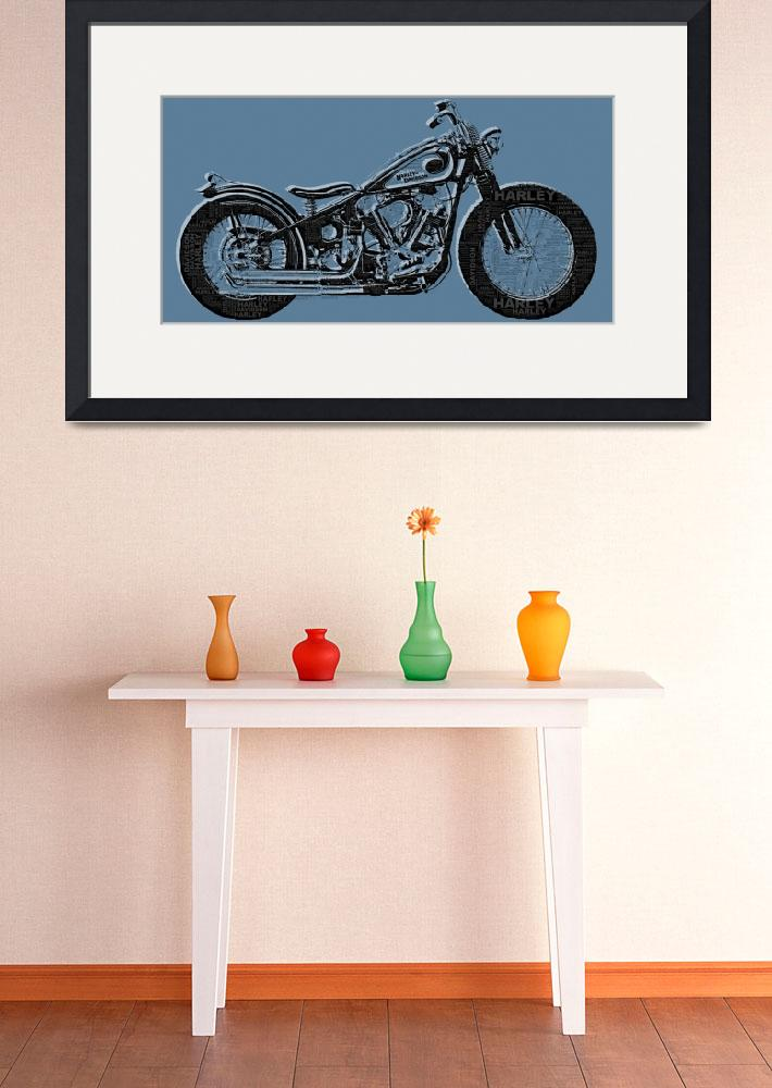 """Harley-Davidson and Words&quot  (2014) by RubinoFineArt"