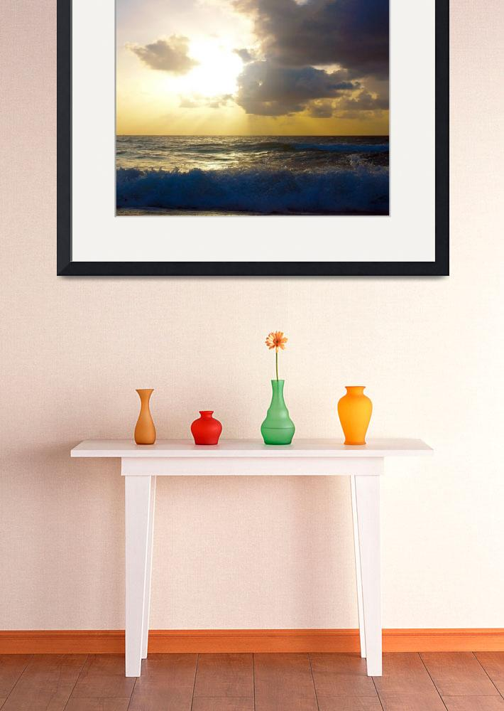 """Sunrise Seascape Morning Bliss B2&quot  (2015) by Ricardos"
