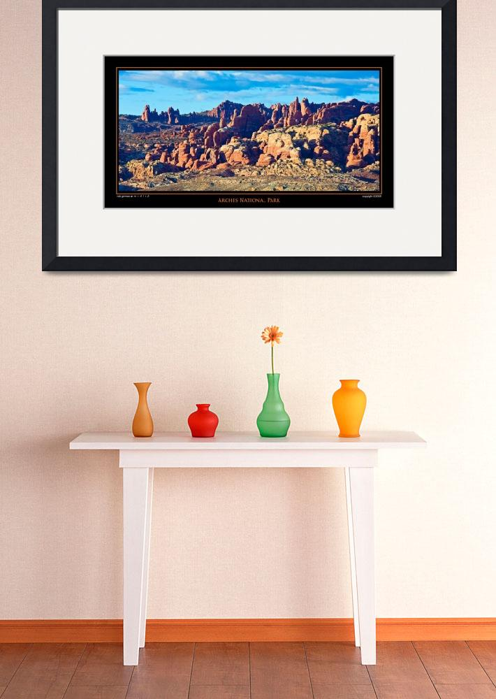 """POSTER - Arches National Park&quot  (2008) by robgerman"