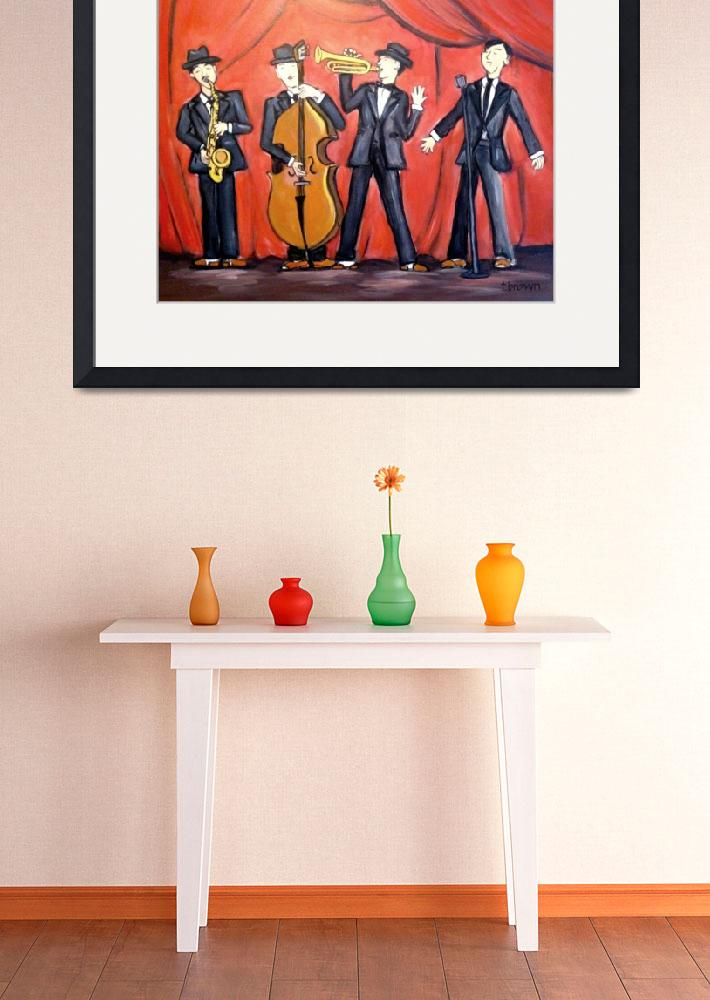 """jazz quartet - instruments - big band&quot  (2014) by traciebrownart"