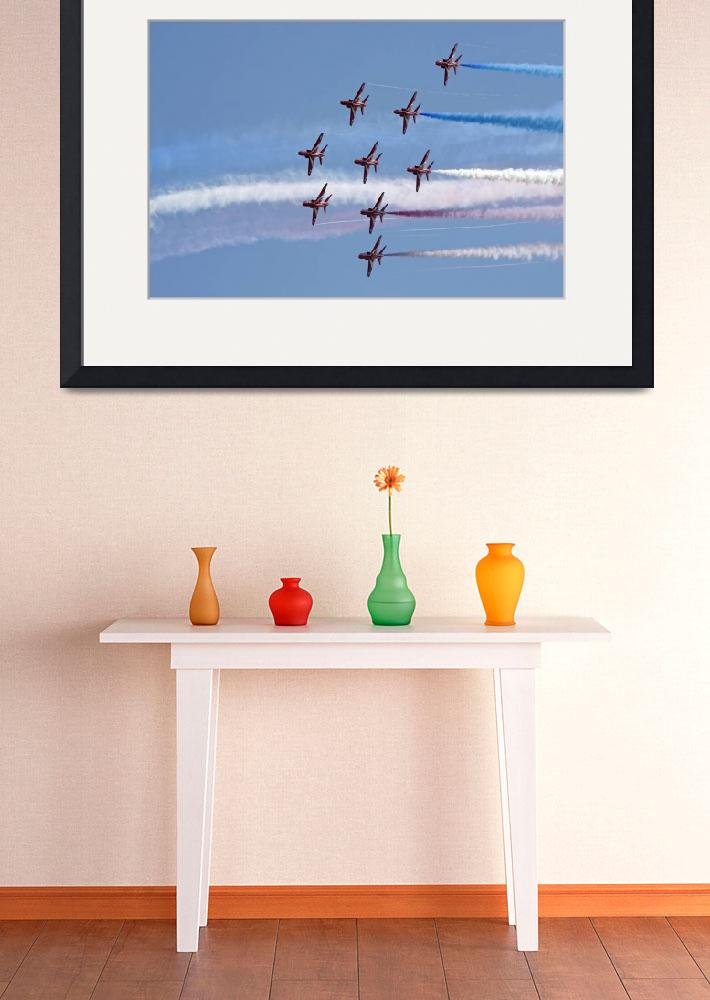 """Red Arrows aerobatic team 6&quot  (2011) by steveball"
