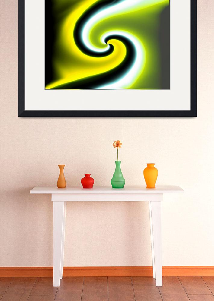 """Yellow Green Swirl&quot  (2012) by AprilO"